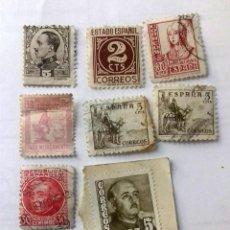 Sellos: LOTE 8 SELLOS . AÑOS 1930- 1939. USADOS. ALFONSO XII - ISABEL LA CATÓLICA-EL CID ETC. VER FOTOS. Lote 128027787