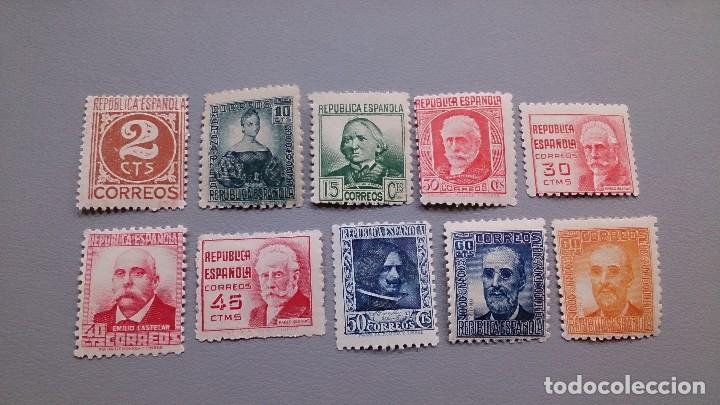 ESPAÑA -1936-1998 - II REPUBLICA - EDIFIL 731/740 - SERIE COMPLETA - MNH** - NUEVOS - VALOR CAT 42€ (Sellos - España - II República de 1.931 a 1.939 - Nuevos)