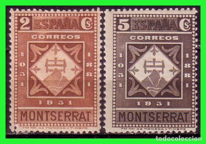 1931 MONTSERRAT, EDIFIL Nº 637 Y 638 * * (Sellos - España - II República de 1.931 a 1.939 - Nuevos)