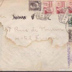 Sellos: CM2-7-CARTA MADRID -PARIS 1938. CENSURA . Lote 130292590