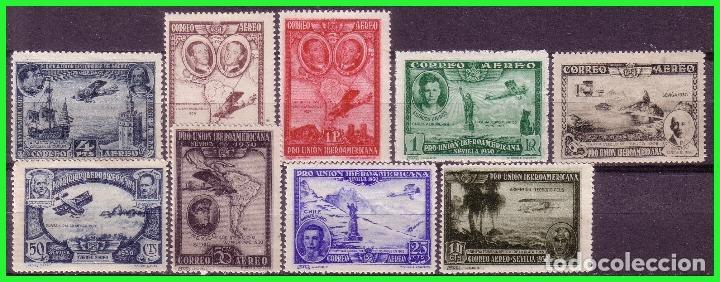 1930 PRO UNIÓN IBEROAMERICANA, EDIFIL Nº 583 A 591 * COMPLETA (Sellos - España - II República de 1.931 a 1.939 - Nuevos)