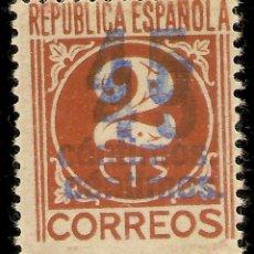 Sellos: EDIFIL ESPECIALIZADO 744**HH MNH 2CTOS CASTAÑO DOBLE SOBRECARGA 45 CTOS NL846. Lote 131094432