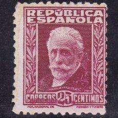 Francobolli: BB24-REPÚBLICA PABLO IGLESIAS CON CIFRA. EDIFIL 658. NUEVO (*) SIN GOMA. Lote 131433310