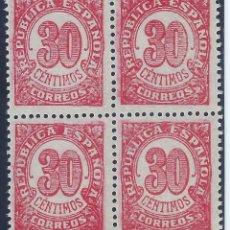 Sellos: EDIFIL 750 CIFRAS 1938 (BLOQUE DE 4). MNH **. Lote 132877234