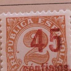 Sellos: SELLO CIFRAS DE LA REPÚBLICA CON SOBRECARGA EDICIÓN 743 NUEVO CON CHANELA. Lote 131991685