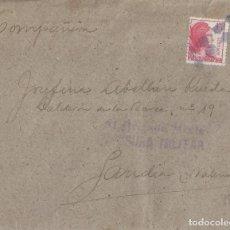 Sellos: CARTA DE 1939 DEL FRENTE A GANDÍA, CON MARCA 81 BRIGADA MIXTA/CENSURA MILITAR.. Lote 132207334