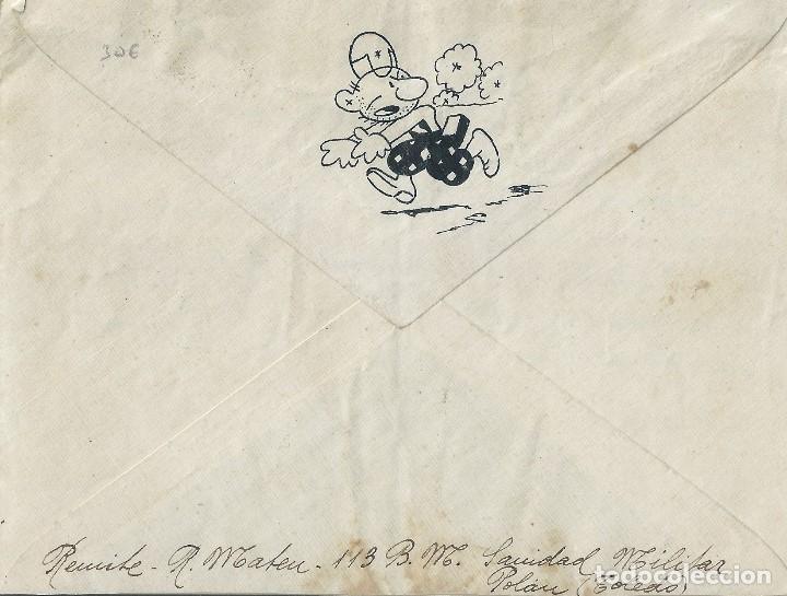 Sellos: Carta de 1937 del Frente en POLAN (Toledo) a VALENCIA con matasellos CORREO DE CAMPAÑA. - Foto 2 - 132225150