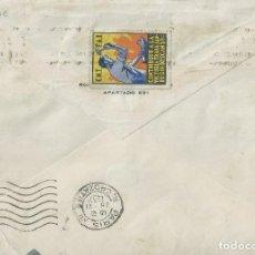 Sellos: SOBRE DE 1937 DE BARCELONA A PARIS CON VIÑETA DE CNT - FAI AL DORSO.. Lote 132243978