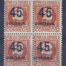 Sellos: EDIFIL 744 CIFRAS. HABILITADO CON NUEVO VALOR. 1938. MNH **. Lote 132779230
