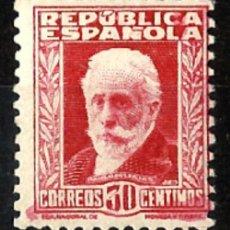 Sellos: 1931 REPUBLICA ESPAÑOLA PERSONAJES EDIFIL 659** MNH. Lote 133306894