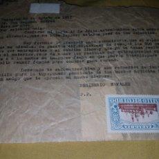 Sellos: 2 CARTAS ZARAGOZA 1927 CON VIÑETAS RECUERDO ZARAGOZA 5 CTMOS MARRON Y AZUL. Lote 133591643