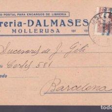 Sellos: CM3-57- TARJETA PEDIDO LIBRERÍA DALMASES MOLLERUSA LÉRIDA 1932. Lote 133984250