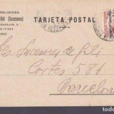 Sellos: CM3-59- TARJETA POSTAL PEDIDO LIBRERÍA GABRIEL MOLINA MADRID 1932. Lote 133984406