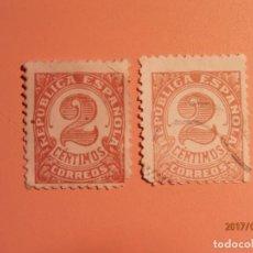 Sellos: 1933-1936 - CIFRAS - EDIFIL 678 Y EDIFIL 731.. Lote 134322366