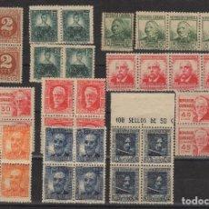 Sellos: 1936-1938 PERSONAJES REPÚBLICA ESPAÑOLA EDIFIL 731/40** MNH VC 168,00€. Lote 135921438