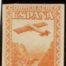 Sellos: ESPAÑA EDIFIL 653* MH SIN DENTAR 50 CÉNTIMOS NARANJA MONSERRAT AÉREO 1931 NL988. Lote 137165882
