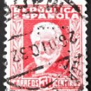 "Sellos: EDIFIL 669, USADO. PERFORADO. FECHADOR: ""MADRID, 26,DIC.32"".. Lote 137397354"