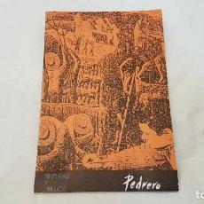 Sellos: PEDRERO. PINTURAS Y DIBUJOS. PABLO PICASSO. CASA DE LA CULTURA DE ZAMORA - ANTONIO PEDRERO. Lote 138008149