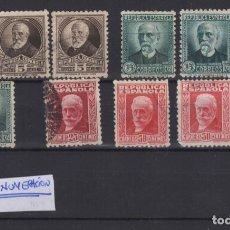 Sellos: 1931-1932 VARIOS VALORES PERSONAJES REPUBLICA ESPAÑOLA (º)/*. Lote 138799602