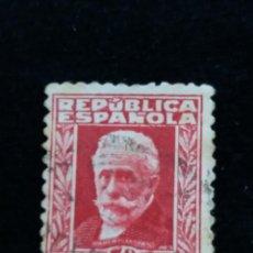 Sellos: SELLO REPUBLICA ESPAÑOLA 1932 PABLO IGLESIAS 35 CTS.-.USADO. Lote 139907462