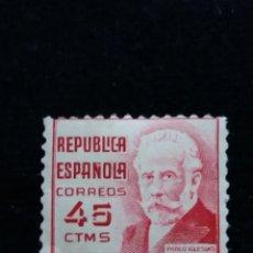 Sellos: SELLO REPUBLICA ESPAÑOLA 1932 PABLO IGRESIAS 45 CTS.-.USADO 1936. Lote 140164250