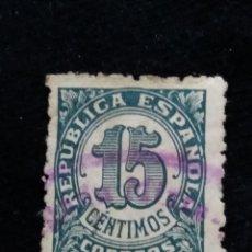 Sellos: CORREOS REPUBLICA ESPAÑOLA 15 CTS.- 1938 USADO. Lote 140172814