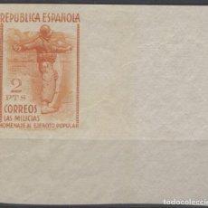 Sellos: EDIFIL 798S MILICIAS ESQUINA DE HOJA. Lote 140310782