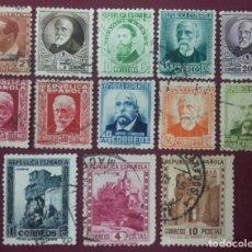 Sellos: ESPAÑA. REPÚBLICA ESPAÑOLA. PERSONAJES Y MONUMENTOS, 1932 (Nº 662-675 EDIFIL).. Lote 140376510