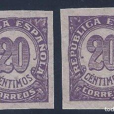 Sellos: EDIFIL 748S CIFRAS 1938. DOS SELLOS SIN DENTAR. VALOR CATÁLOGO: 48 €.. Lote 140493330