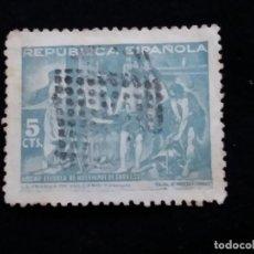 Sellos: SELLO REPUBLICA ESPAÑOLA 25 CTS HUERFANOS DE CORREOS AÑO 1935 - USADO. Lote 140799790