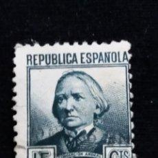 Sellos: SELLO REPUBLICA ESPAÑOLA 15 CTS, CONCEPCION ARENAS AÑO 1937 - USADO. Lote 140800434
