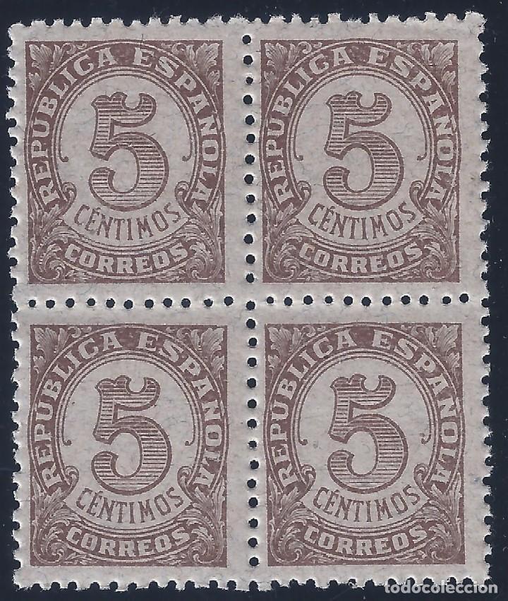EDIFIL 745 CIFRAS 1938 (BLOQUE DE 4). MNH ** (Sellos - España - II República de 1.931 a 1.939 - Nuevos)