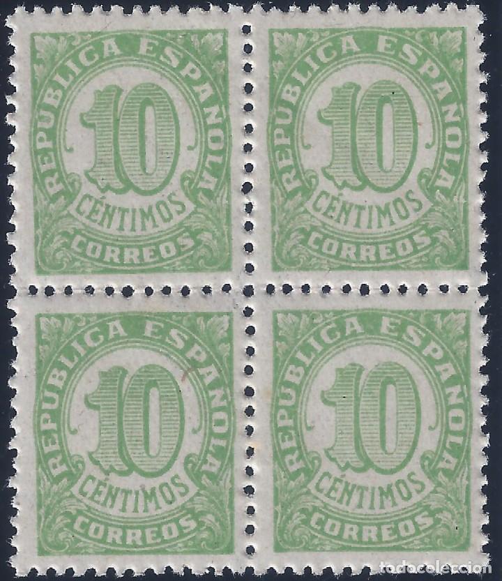 EDIFIL 746 CIFRAS 1938 (BLOQUE DE 4). MNH ** (Sellos - España - II República de 1.931 a 1.939 - Nuevos)