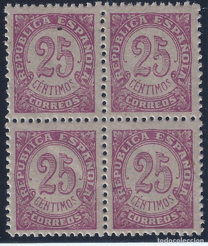 EDIFIL 749 CIFRAS 1938 (BLOQUE DE 4). MNH ** (Sellos - España - II República de 1.931 a 1.939 - Nuevos)
