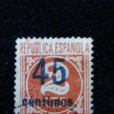 Sellos: SELLO REPUBLICA ESPAÑOLA 2 CTS, NUMEROS, AÑO 1938 USADO.- SOBRE ESSCRITO.. Lote 140928234