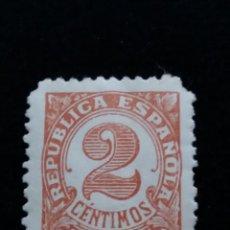 Sellos: SELLO REPUBLICA ESPAÑOLA 2 CTS, NUMEROS, AÑO 1938 USADO.- .. Lote 140928558