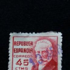 Sellos: SELLO REPUBLICA ESPAÑOLA 45 CTS, PABLO IGRESIAS, AÑO 1936 USADO.- .. Lote 140929722