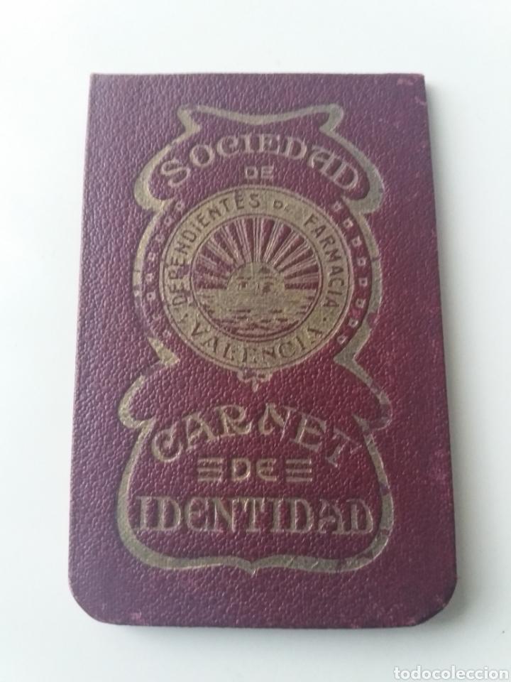 VALENCIA.SOCIEDAD DE DEPENDIENTES DE FARMACIA DE VALENCIA. CARNET IDENTIDAD DE JATIVA. 57 CUPONES (Sellos - España - II República de 1.931 a 1.939 - Usados)