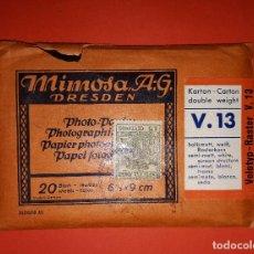 Sellos: MIMOSA SOBRE CON 20 HOJAS DE PAPEL FOTOGRÁFICO SELLO 15 CÉNTIMOS REPUBLICA. Lote 141848402