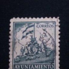 Sellos: SELLO CORREOS, AYUNTAMIENTO DE BARCELONA, 5 CTS USADO1939. NUEVO. Lote 142275190