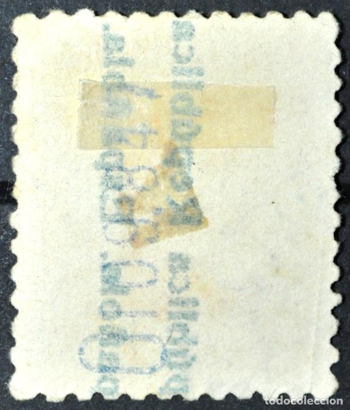 Sellos: RARO ALFONSO XIII 25C. CON DOBLE HABILITADO -REPÚBLICA ESPAÑOLA- EN ANVERSO Y REVERSO. BUEN CENTRADO - Foto 2 - 142494462