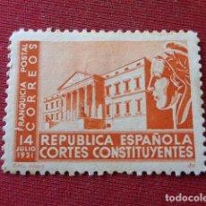 Sellos: FRANQUICIA POSTAL. REPUBLICA ESPAÑOLA. CORTES CONSTITUYENTES. . Lote 143089222