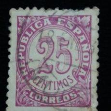 Sellos: SELLO CORREOS.REPUBLICA ESPAÑOLA 25 CTS. AÑO 1936. USADO. Lote 143205434
