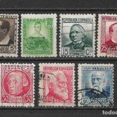 Sellos: ESPAÑA 1933-1935 EDIFIL 681/688 - 20/5. Lote 143936958