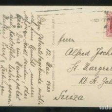 Sellos: TP CIRCULADA DE BARCELONA A SUIZA EN 1933. RODILLO BARCELONA SOBRE EDIFIL Nº 658.. Lote 144031250