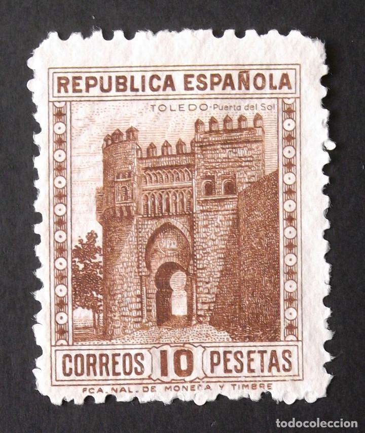 772, USADO, SIN MATASELLAR. MONUMENTOS (TOLEDO) (1938). (Sellos - España - II República de 1.931 a 1.939 - Usados)
