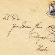 Sellos: CARTA 1937 HUELVA. Lote 144553382