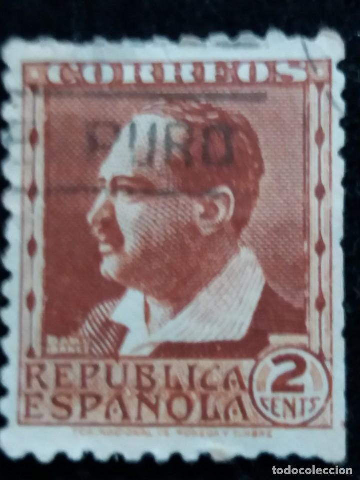 SELLO CORREOS REPUBLICA ESPAÑOLA. PERSONAJES 2 CTS. 1936. . (Sellos - España - II República de 1.931 a 1.939 - Usados)
