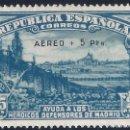 Sellos: EDIFIL 759 DEFENSA DE MADRID 1938. SOBRECARGA AUTÉNTICA.CERTIFICADO CMF. LUJO. MLH.. Lote 145326350