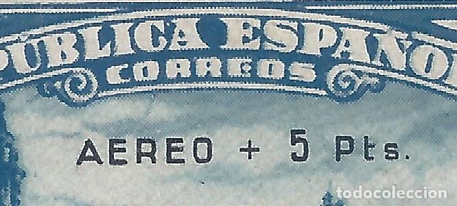 Sellos: EDIFIL 759 DEFENSA DE MADRID 1938. SOBRECARGA AUTÉNTICA. CERTIFICADO CMF. LUJO. MLH. - Foto 2 - 145326350